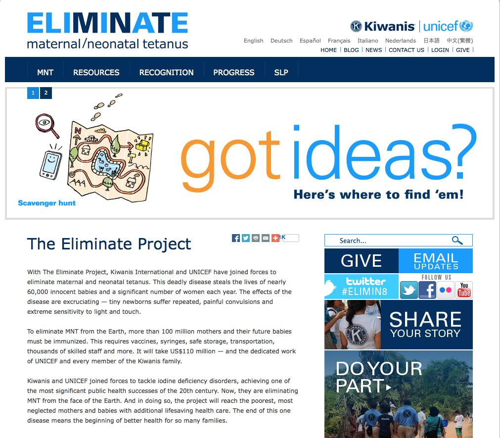 Eliminate Project Kiwanis Kiwanis Eliminate Project  